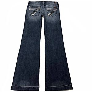 7 For All Mankind Dojo 27X33 Long Flare Jeans
